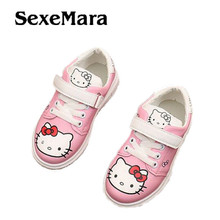 SexeMara 2017 New Cheapest Spring Autumn Winter Children's Sneakers Kids  casual shoes Hello Kitty Girls Shoes
