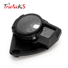 Triclicks Black Motorcycle Speedo Gauge Covers ABS Speedometer Meter Tachometer Gauge Case Cover For Suzuki GSXR 1000 2005-2006(China)
