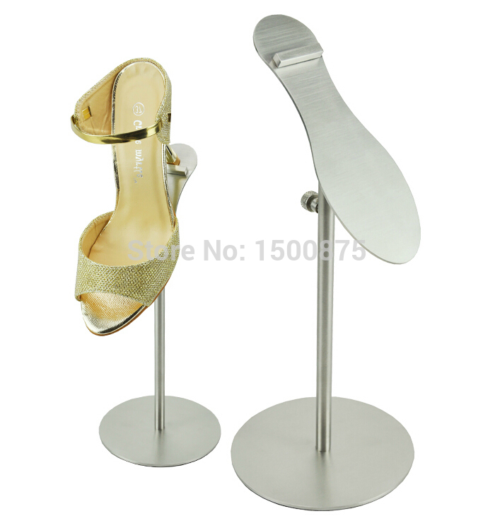 Shoe Shape Mirror Metal Shoe Stand Shoe Riser Holder Shoe Display Rack Stand<br>