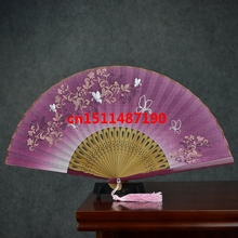 21 colors paint Shanbing linen fan Zhushan paper fan advertising fan Japanese female fans wedding favors
