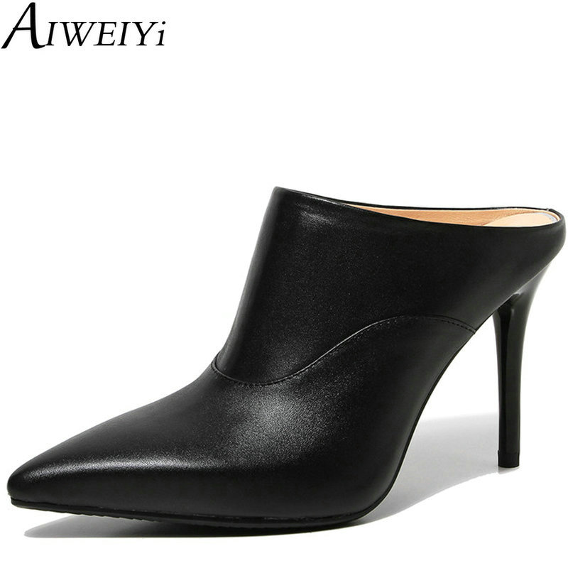 AIWEIYi Women Sandals Summer Style Slippers Shoes Pointed toe Slip on Slides Slippers Slingbacks Sandals Size 34-39<br><br>Aliexpress