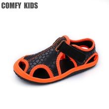Comfy kids new arrivals outdoor beach child boys sandals swiftwater shoes easy on flat with fashion boys kids sandals for girls