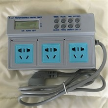 Free Shipping 220V 2500W Timer Time Switch Socket For Aquarium Fish Tank Lights Programmable independent control