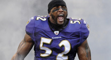 "Ray Lewis male Fabric Poster 43"" x 24"" 24""x13"" --04(China)"