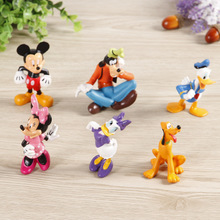 Disney Kid Toys 6pcs/Lot Mickey Mouse Anime Figure Plastic Toys PVC Mini Action Figures Set Kids Toys Baby Gift For Boys Girls