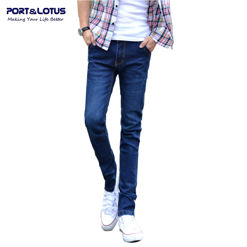 Port&amp;Lotus Fashion Casual Jeans New Arrival With Zipper Fly Solid Color Midweight Pencil Pants Slim Fit Jeans Men 011 wholesaleОдежда и ак�е��уары<br><br><br>Aliexpress
