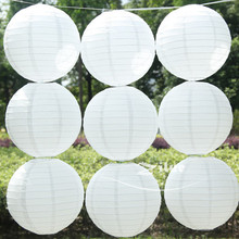 White paper lanterns 10pcs/lot (15cm-40cm) Round paper lanterns lamps festival wedding decoration chinese paper lanterns