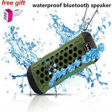 Kuge Outdoor Bluetooth Speaker Waterproof Portable Wireless Stereo Subwoofer Loudspeaker for Bicycle Mic TF Card Slot+AUX+Gift