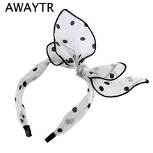 Polka Dot Headband Easter Fashion Lovely Bow Bunny Ears Headband For Women Wedding Hair Bands Festival Gifts Party Accessories(China)