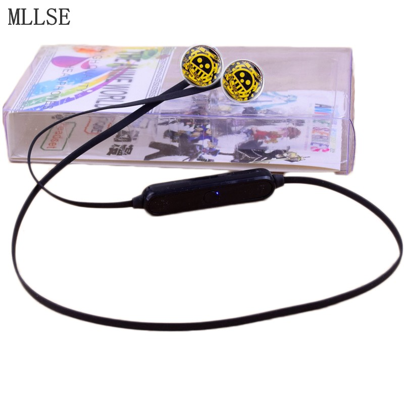 MLLSE Anime One Piece Trafalgar Law Skull Sport Earphone Wireless Headphones with Microphone Wireless Stereo Bluetooth Headset(China (Mainland))
