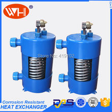 Free shipping 1.0HP Aquarium titanium tube heat exchanger Vertical type (WHC-1.0DYL )(China)
