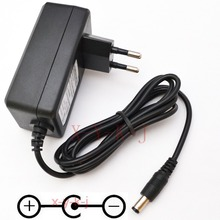 1PCS High quality AC/DC 9V 2A Switching Power Supply adapter Reverse Polarity Negative Inside EU plug 5.5mm x 2.1mm-2.5mm