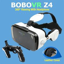 Hot Sale! Google Cardboard BOBOVR Z4 gafas realidad virtual BOBO VR For 4.7-6.2 inch Smartphone+Multi-Function Bluetooth Gampad