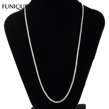 FUNIQUE Women & Men Necklace Jewelry 1.9mm Thickness Stainless Steel Mesh Chain Necklace For Wedding Party Silver Tone 50cm