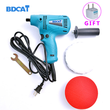 BDCAT Original 220v 4500rpm Electric Polishing Machine Car Polisher Cleaner with six Speed control function car polish machine(China)