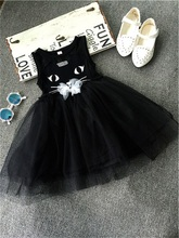 2017 Summer Girls Clothes Princess Tutu Dress Girl Cat Prints Baby kids infant Dresses For Girls Clothing Girl Dress Costume