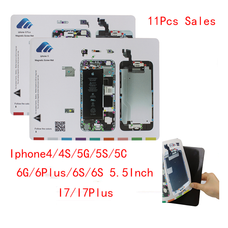 2017 11 types hot Professional Magnetic Screw Mat Repair Pad Guide Tool for iphone 4 4s 5 5s 6 6s 4.7 6Plus 5.5 7 7Plus<br>