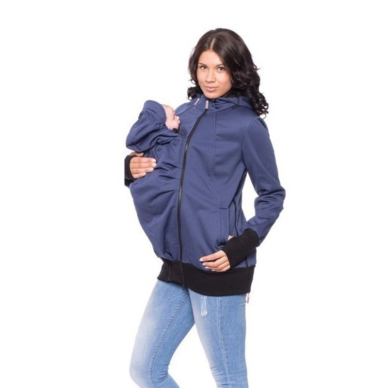 2017 European Winter Women Hoodies Sweatshirt Multifunctional father Kangaroo Coat father Baby Jacket sweater Pregnant Clothing <br>