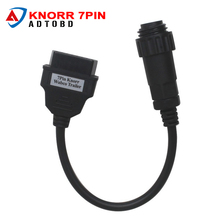 for Knorr 7 Pin Wabco Trailer OBD2 OBD II Cable For AUTO CDP COM Trucks Diagnostic Tool Connector Wabco Trailer Cable to 16pin