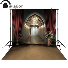 Allenjoy photography background wedding marry palace vintage flower door photo studio props photobooth photocall