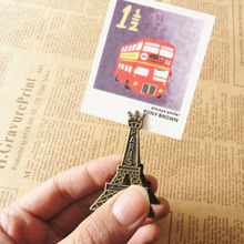 Effiel Tower Paris Metal Memo Paper Clips for Message Decoration Photo Office Supplies Accessories Free shipping