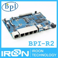 BPI-R2 Banana PI R2 Smart Open-source Wireless Router BPI R2.Smart Home Control Device MT7623N Quad-code 2GB DDR 8GB EMMC
