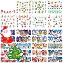 48Sheets Christmas Mixed Decals Nail Art Water Transfer Stickers Full Wraps Santa/Tree/Snowflake Nail Tip Decor DIY LAA1129-1176