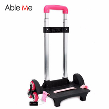 AbleMe Travel Accessories 3 Wheels&2 Wheels Rolling Cart Removable Trolley Kids Schoolbag Luggage Carts for Girls and Boys(China)
