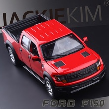 High Simulation Exquisite Diecasts & Toy Vehicles: CaiPo Car Styling Ford 2015 F150 Raptor Pickup Trucks 1:34 Alloy Car Model(China)