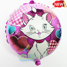 2015 New 10pcs/lot Aluminum Foil Balloon,heart animal Helium ballon marry cat baloes for baby toys children party supplies