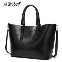 LUYO Women Patent Leather Handbags Large Capacity Casual Shoulder Bag For Female Messenger Luxury Ladies Big Tote Day Clutch(China)