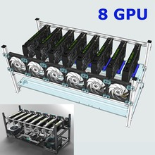 Aluminum Crypto Coin Open Air Mining Frame Rig Case up to 8 GPU ETH BTC Ethereum High Quality computer case towers For BTC(China)