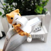 Sweet Cat Orange Cat Catch the Rolled Paper Cute Puppy 3.5mm universal dust Plug Earphone Jack Plug Headset Stopper Cap(China)