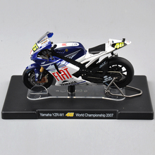 1/18 Diecast Motorcycle VALENTINO ROSSI Yamaha YZR-M1 #46 World Championship 2007 Racing Bike Model Children Toys Collection