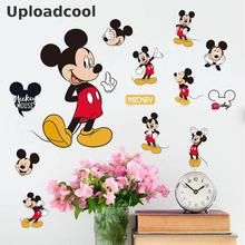 Uploadcool _ Lovely Cartoon Wall Stickers Mickey Mouse Minnie Wall Stickers Living Room Bedroom Kids Room Decoration