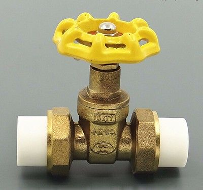 Brass PPR Heat Fusion Gate Valve Double Union Socket Tube O/D 20mm 143 PSI for Water meter<br><br>Aliexpress
