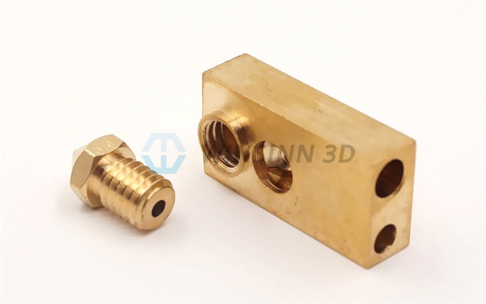 Olsson Nozzle For Ultimaker 2 UM2 Extended Extruder Hotend Copper Brass For 0.25 0.4 0.6 0.8mm 1.75 3MM Filament