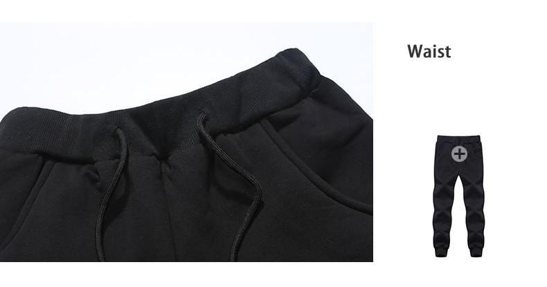 Couple Tracksuit Men Casual Cotton Knitted Hooded Warm Sweatshirt Male Winter Thick Lamb Cashmere Fleece Women Jacket+Pant 2PC set 0