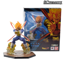 "Anime Dragon Ball Z Super Saiyan Vegeta Battle Ver. PVC Flash Action Figure Model Collection Toys 6"" 15CM Wedding Decoration(China)"