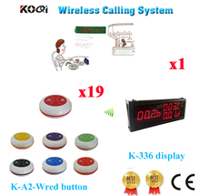 Number Calling System LED Wall Display For Counter Caller Bell Button 100% Waterproof For Guest Ycall( 1 display + 19 button)(China)