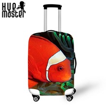 fish exterior elasticity travel accessories suitcase covers scratch proof high quality suitcase covers waterproof luggage cases(China)