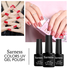 Sarness French Manicure Gules Color UV Lamp LED Nail Gel Polish Soak Off Gel Lacquer Cheap Nail Art Polish 8ml Gel Nail Primer