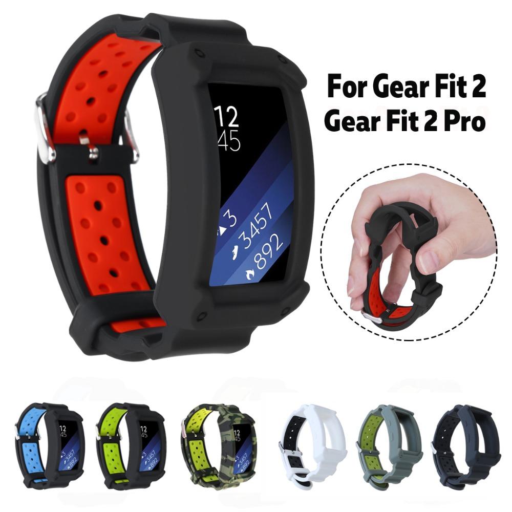 Adjustable-Smart-Watch-Wrist-Watch-Bands-Belt-Protective-Frame-Strap-for-Samsung-Gear-Fit2-Gear-Fit