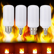 Buy 2017 New LED lamp Flame Effect Fire Light Bulbs 5W Flickering Emulation flame Lights E27 E26 E14 B22 2835SMD 1800K AC100-265V for $5.89 in AliExpress store