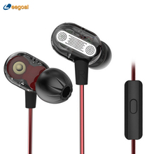 KZ ZSE In-Ear HIFI Headset Wire Control Noise Cancelling Dynamic Hybrid Dual Earbuds Audio Monito Hifi sound Bass Sport Earphone(China)