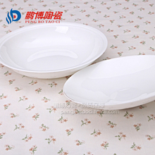 A Set Jingdezhen Bone China Pure White Ceramic 8 inches Round Dinner Plate With Cover Kitchen Dining Tableware Free Shipping