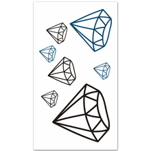 Black And Blue Waterproof Tattoos diamond Fake Tatoo Stickers Men And Women Lovers Finger Tattoo arm Body Art 2016 now hot
