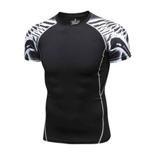 Mens Compression Shirts 3D Teen Wolf Jerseys short Sleeve T Shirt Fitness Men Lycra MMA Crossfit T-Shirts Tights Brand Clothing