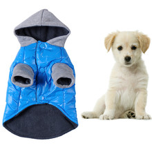 Bule Winter Pet Dog Clothes Warm Wear Coat Small Big Pet Dog Fashion Cotton Thermal Jackets Pet Clothing(China)