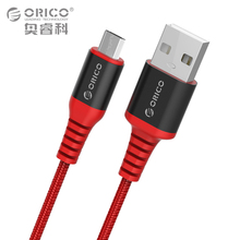 ORICO Kevlar Micro to USB-A Cable 1m 3ft Charging Cord Sync Cable for Android Smart Phone Tablet Black Red